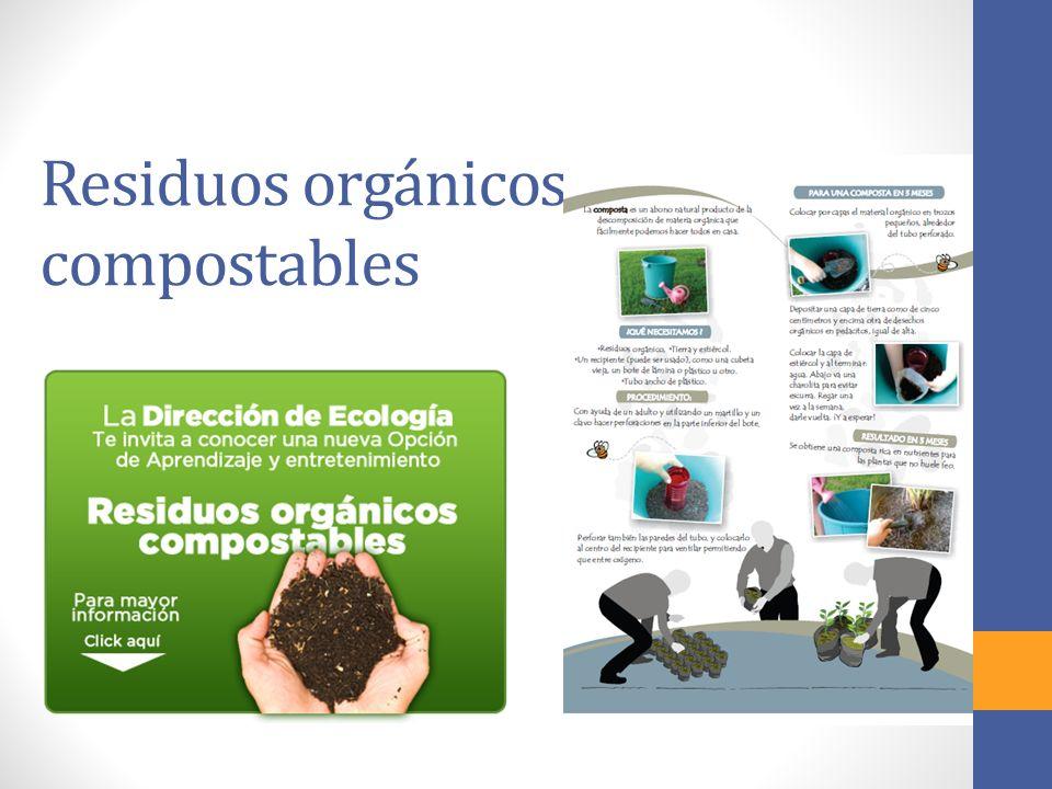 Residuos orgánicos compostables