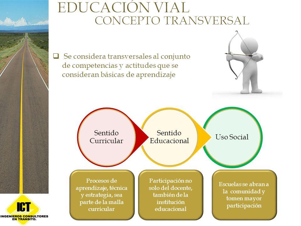 Se considera transversales al conjunto de competencias y actitudes que se consideran básicas de aprendizaje Uso Social Sentido Educacional Sentido Cur