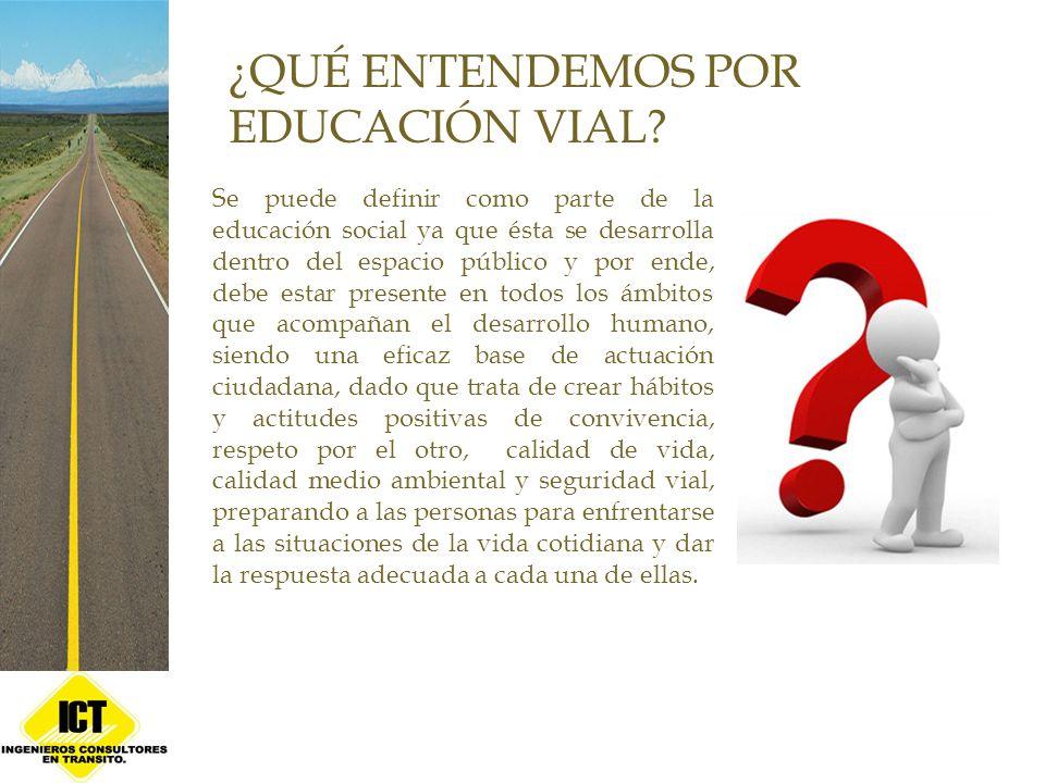 El tema de educación vial no sólo es una responsabilidad de los colegios o profesores, sino que debe ser compartida tanto por la familia como también por la comunidad y además por el Estado.