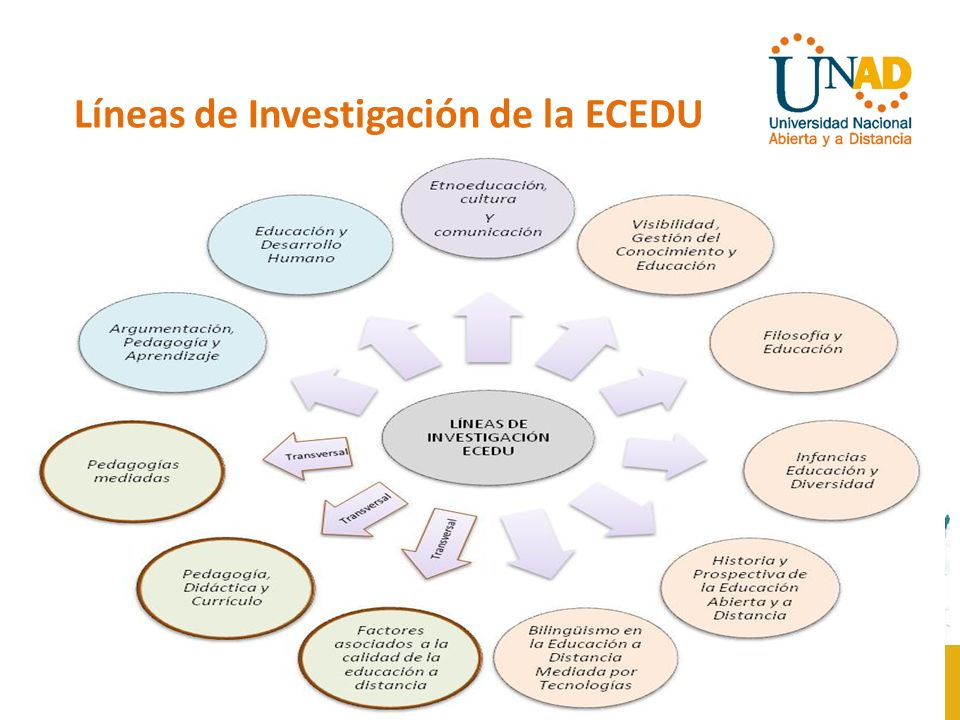 Escuela de Ciencias de la Educación LÍNEAS ECEDULÍNEAS FUNCIONALES Corresponde a líneas de investigación que soportan de manera directa el desarrollo de procesos de investigación en los programas académicos adscritos a la escuela.