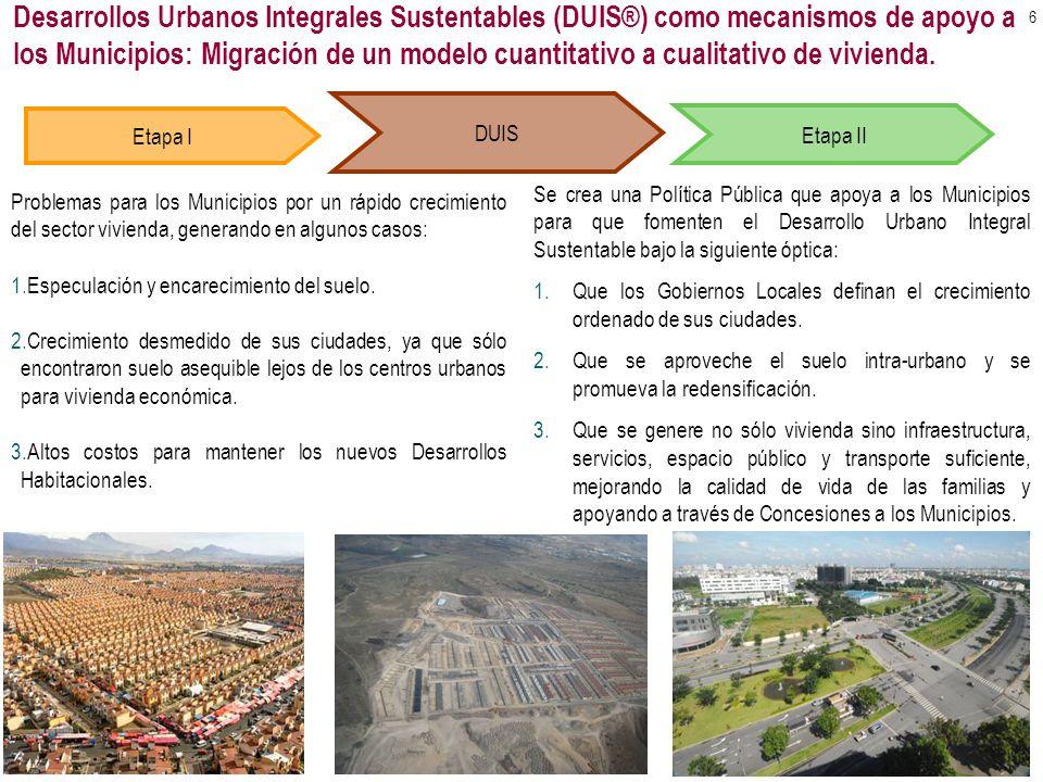 Etapa I DUIS Problemas para los Municipios por un rápido crecimiento del sector vivienda, generando en algunos casos: 1.Especulación y encarecimiento