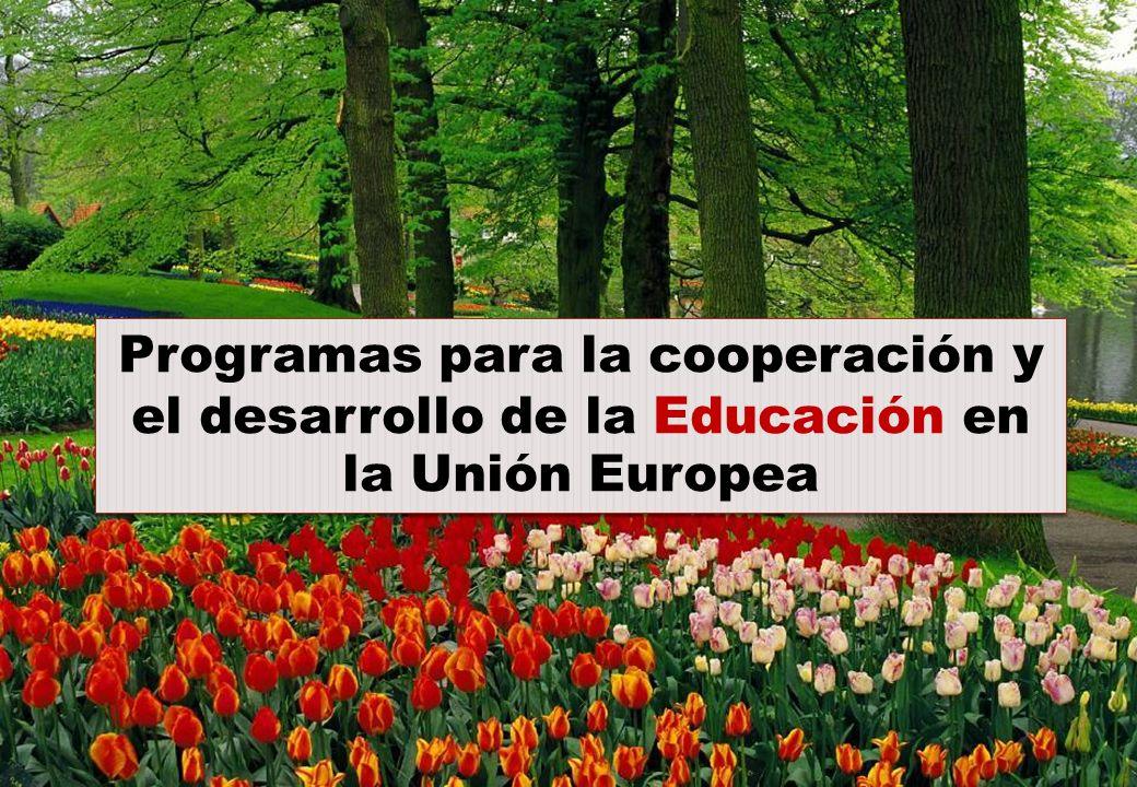 Programas para la cooperación y el desarrollo de la Educación en la Unión Europea