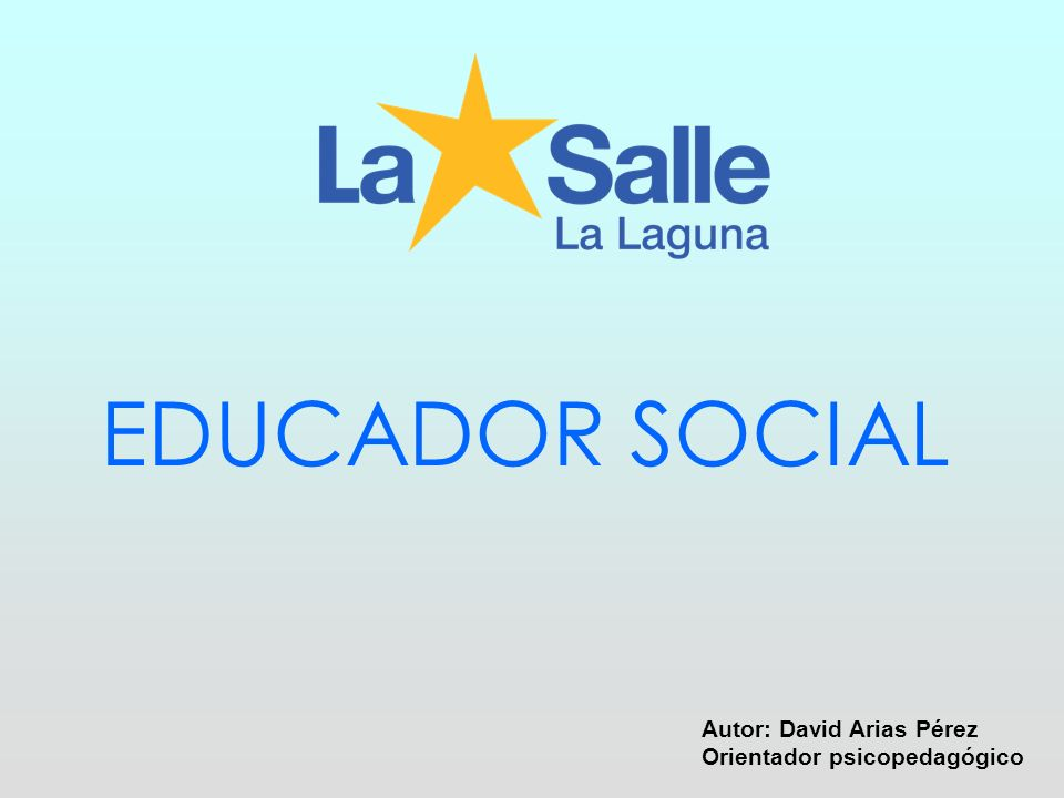 Contenido de la presentación + Que es un educador/a social + Tareas y funciones del Educad@r Social + Posibles campos de actuación e intervención de los educador@s sociales + Áreas Profesionales + Conclusiones personales