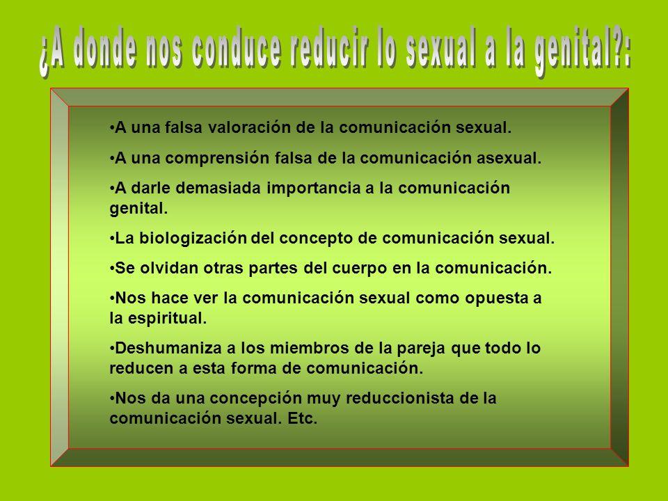 A una falsa valoración de la comunicación sexual.