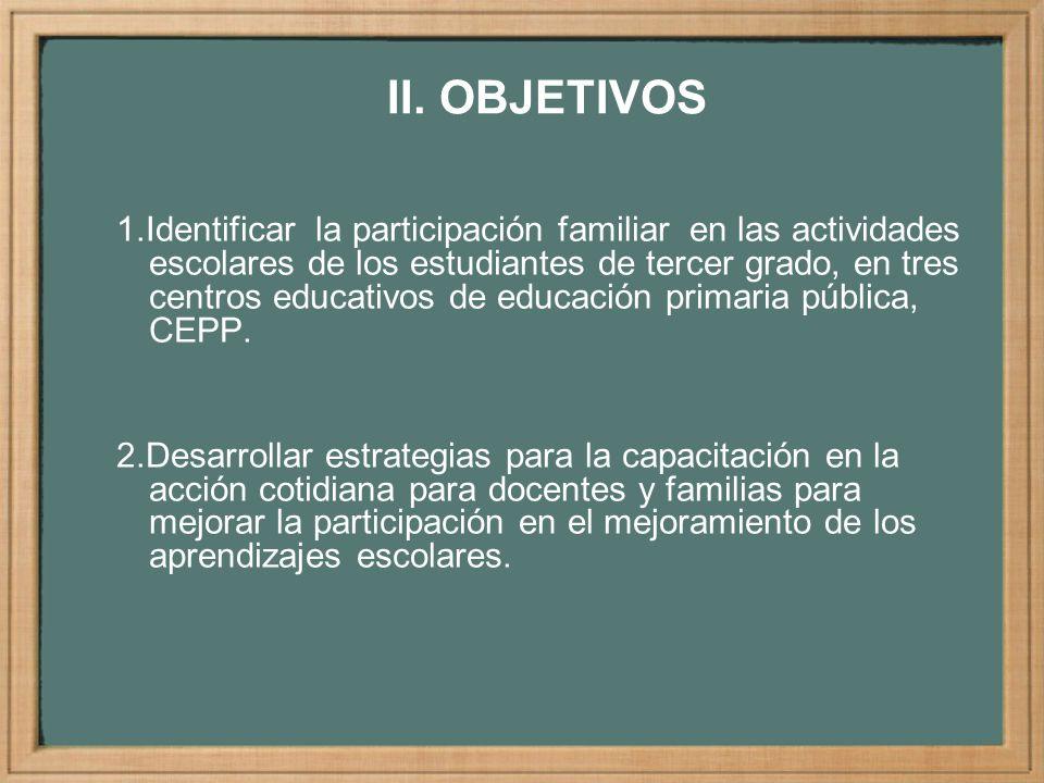 POBLACIONES PROTAGONISTAS DE LA INVESTIGACIÓN EN LOS TRES CEPP C.