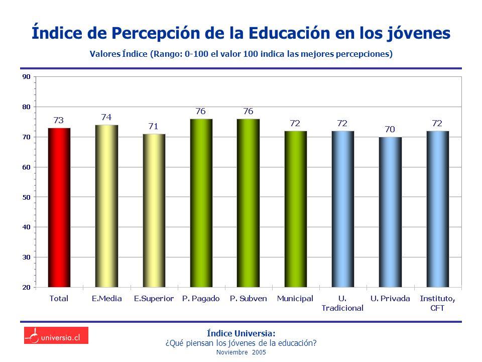 Índice Universia: ¿Qué piensan los jóvenes de la educación.