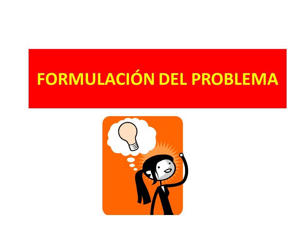 Formulación del Problema La formulación del problema consiste en la presentación oracional del planteamiento del problema en una forma reducida, es decir reducción del problema a términos concretos, explícitos, claros y precisos.