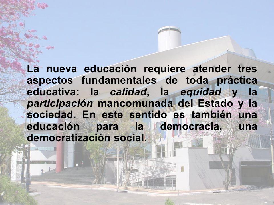 Objetivo 3: Equidad de género y empoderamiento de la mujer Meta 04: Eliminar la disparidad de género en la educación primaria y secundaria, preferiblemente para el 2005, y en todos los demás niveles educativos para el 2015 Indicador 09: Matrícula de EEB y Media de Mujeres/Hombres Fuente: MEC, DGPEC, SIEC 2005 Paridad de Género