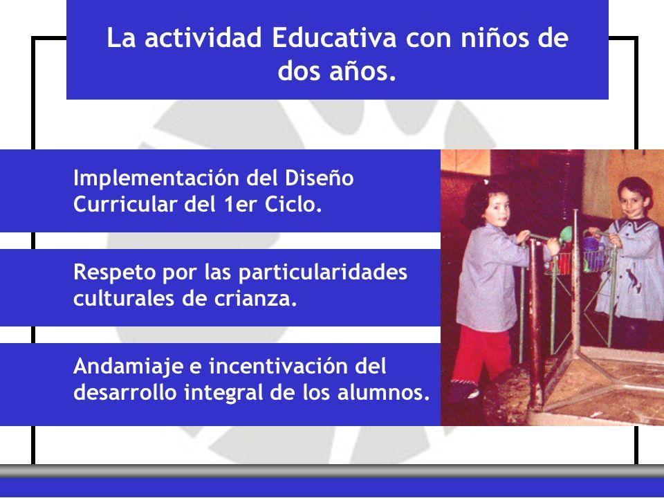 La actividad Educativa con niños de dos años. Implementación del Diseño Curricular del 1er Ciclo. Respeto por las particularidades culturales de crian