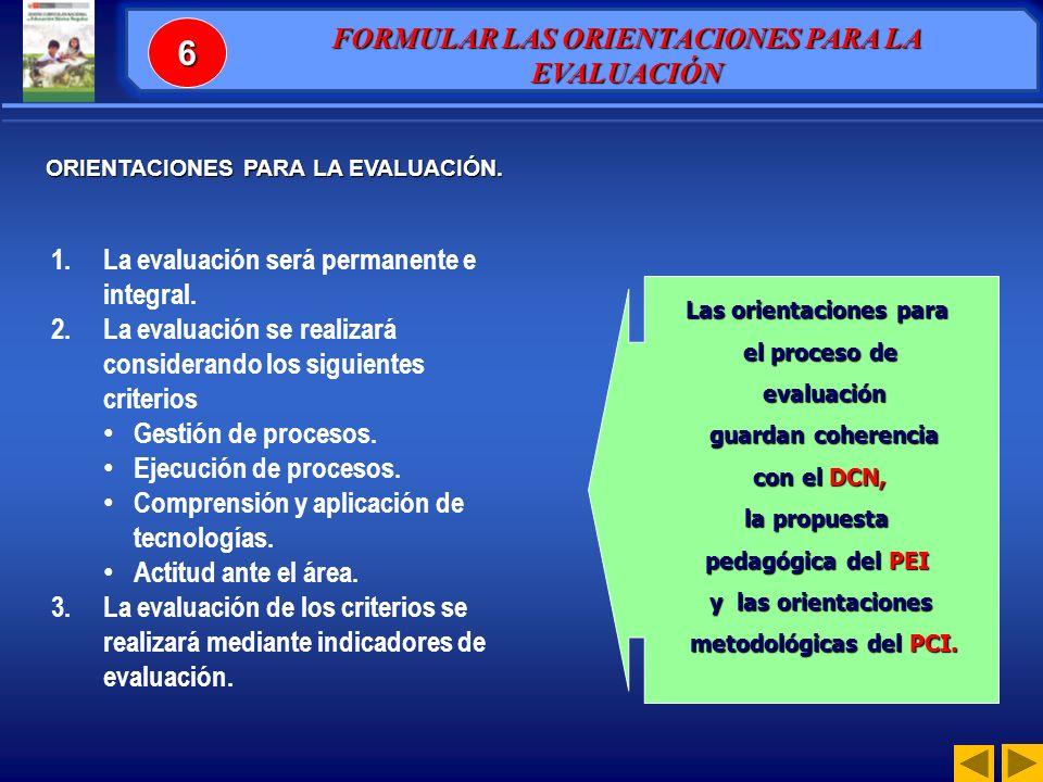 1.La evaluación será permanente e integral.