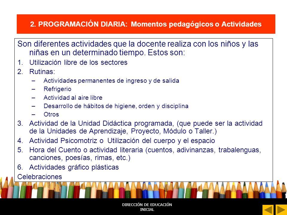 DIRECCIÓN DE EDUCACIÓN INICIAL 2.