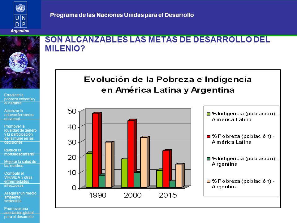 15 Programa de las Naciones Unidas para el Desarrollo Argentina BACK OFFICE SON ALCANZABLES LAS METAS DE DESARROLLO DEL MILENIO? Erradicar la pobreza
