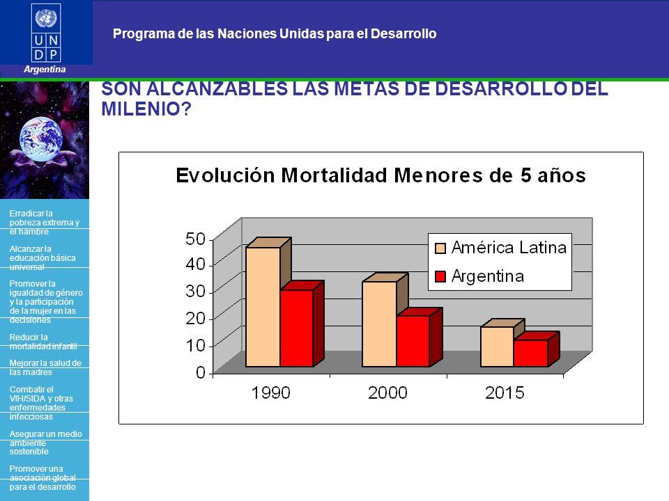 16 Programa de las Naciones Unidas para el Desarrollo Argentina BACK OFFICE SON ALCANZABLES LAS METAS DE DESARROLLO DEL MILENIO? Erradicar la pobreza