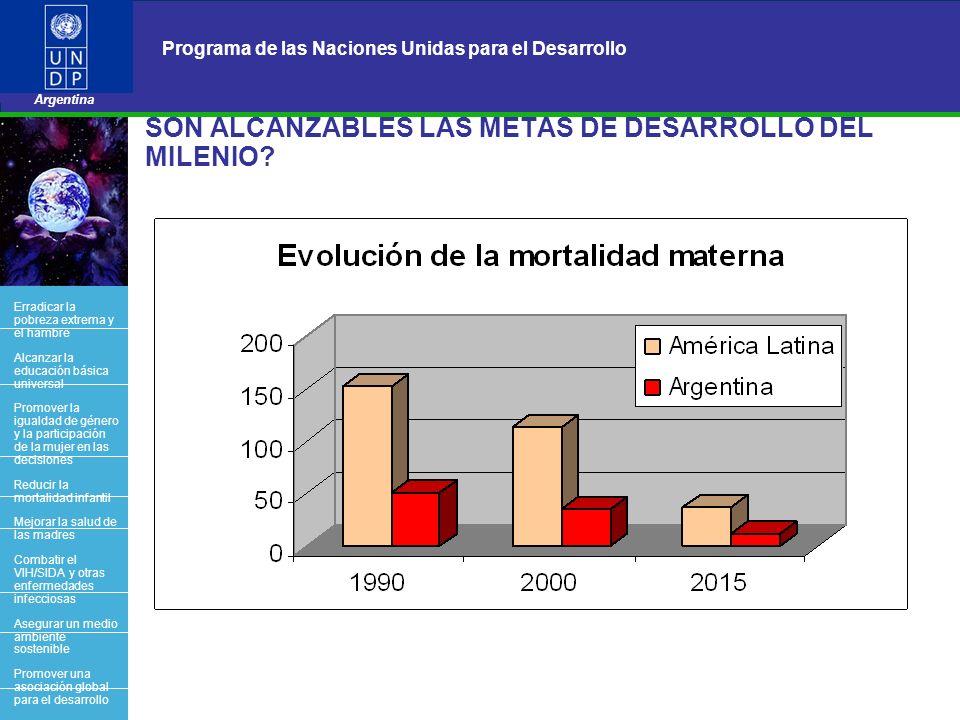 17 Programa de las Naciones Unidas para el Desarrollo Argentina BACK OFFICE SON ALCANZABLES LAS METAS DE DESARROLLO DEL MILENIO? Erradicar la pobreza