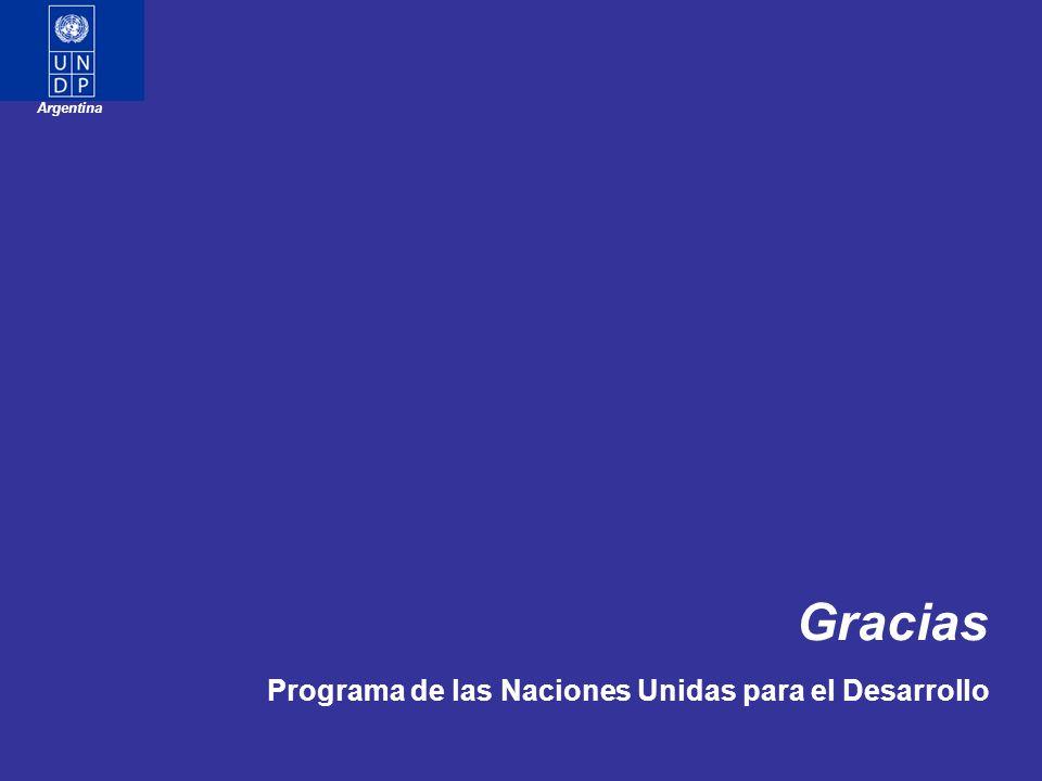 Gracias Programa de las Naciones Unidas para el Desarrollo Argentina