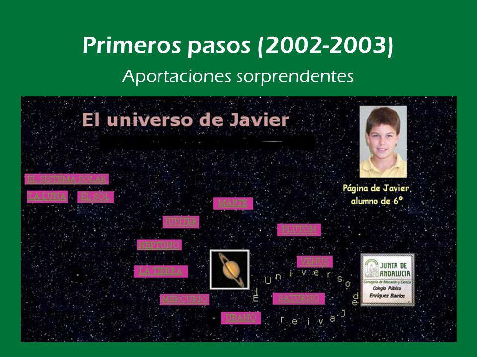 Primeros pasos (2002-2003) La primera portada