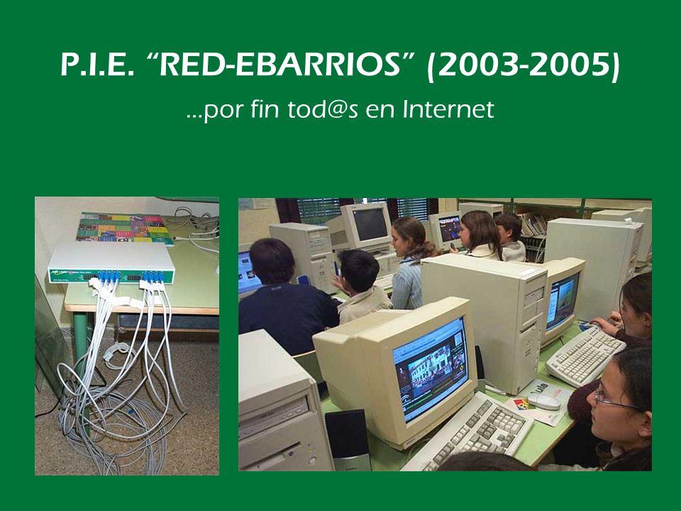 P.I.E. RED-EBARRIOS (2003-2005) También en las clases