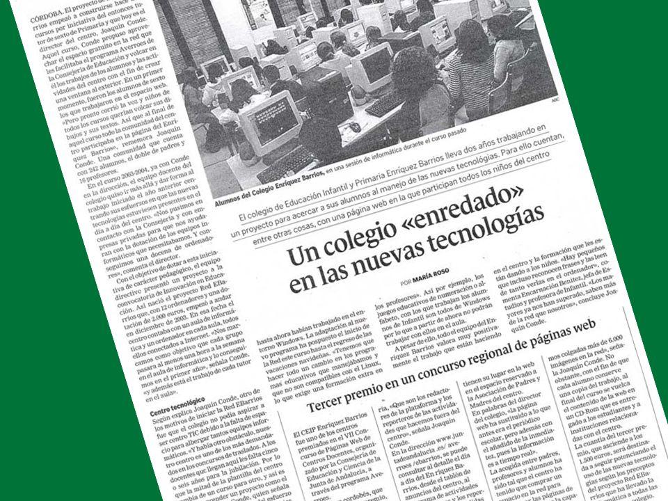 P.I.E. RED-EBARRIOS (2003-2005) Instalación de nuevos equipos en la Biblioteca