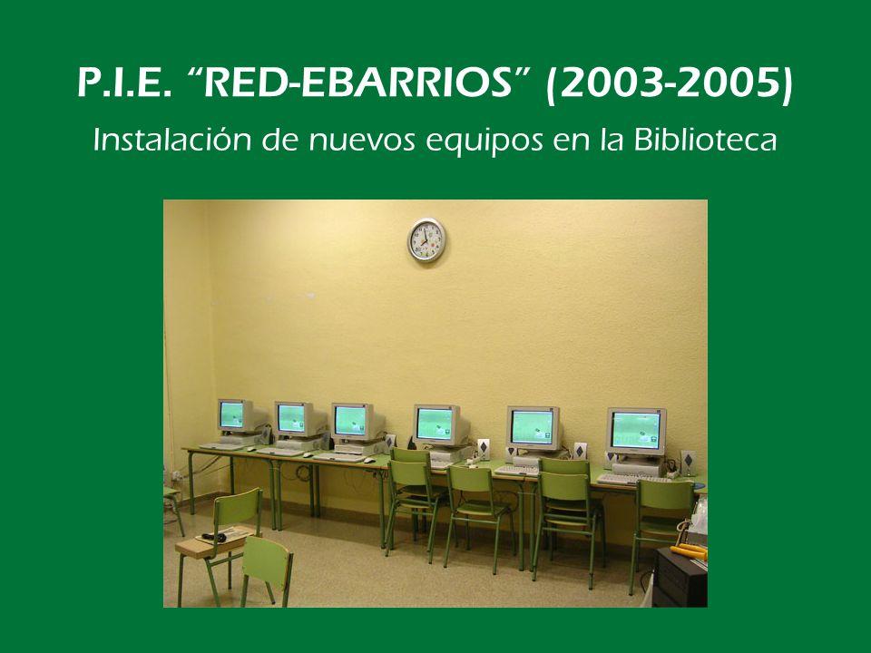 P.I.E. RED-EBARRIOS (2003-2005) Mantenimiento de la red y trabajo diario