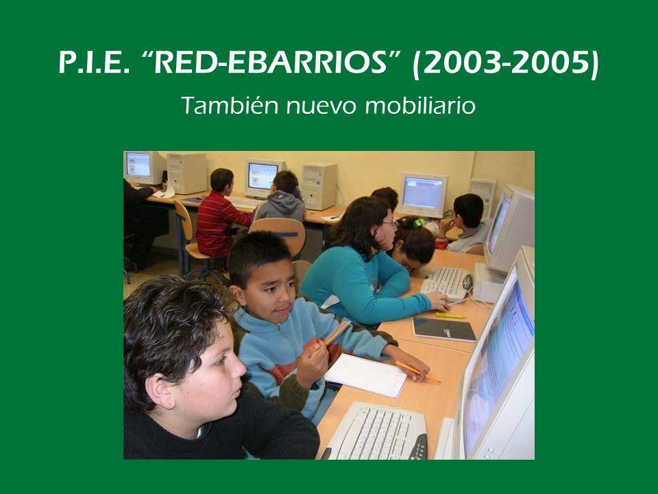 P.I.E. RED-EBARRIOS (2003-2005) Y ahora, a trabajar