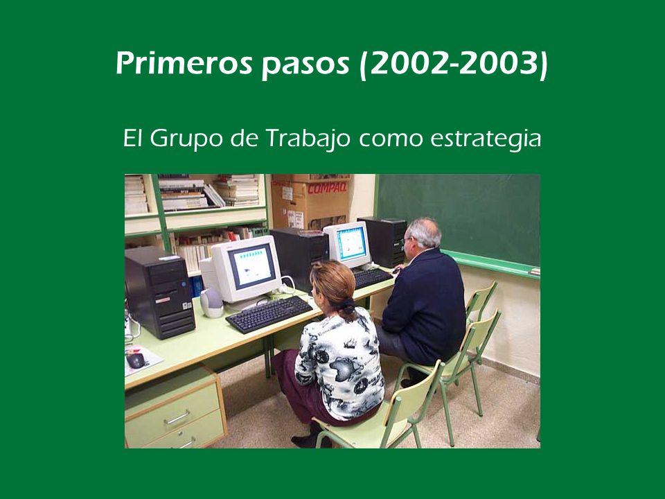 Primeros pasos (2002-2003) Poco a poco van entrando tod@s