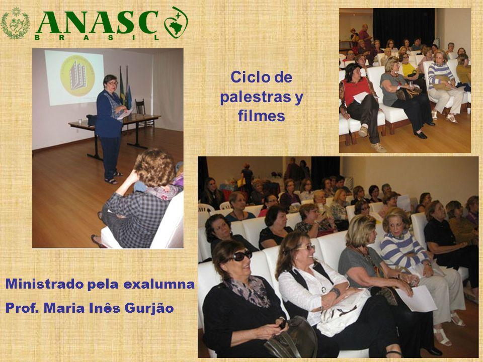 Ministrado pela exalumna Prof. Maria Inês Gurjão Ciclo de palestras y filmes