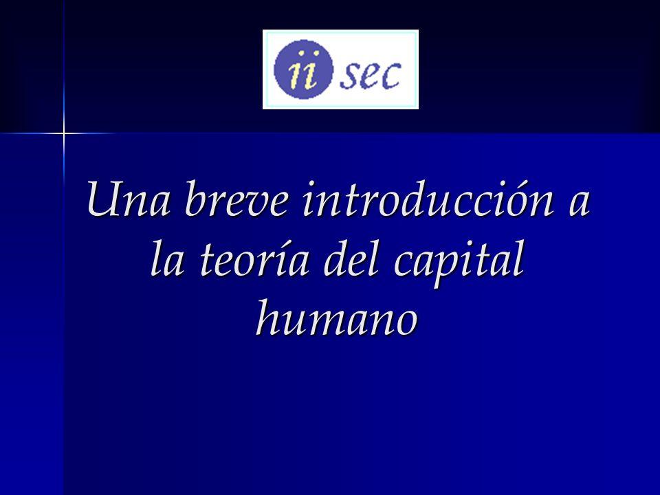 Una breve introducción a la teoría del capital humano