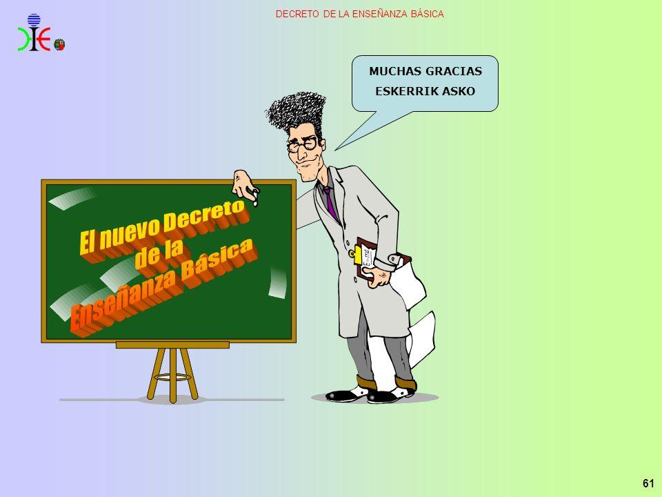 61 DECRETO DE LA ENSEÑANZA BÁSICA MUCHAS GRACIAS ESKERRIK ASKO