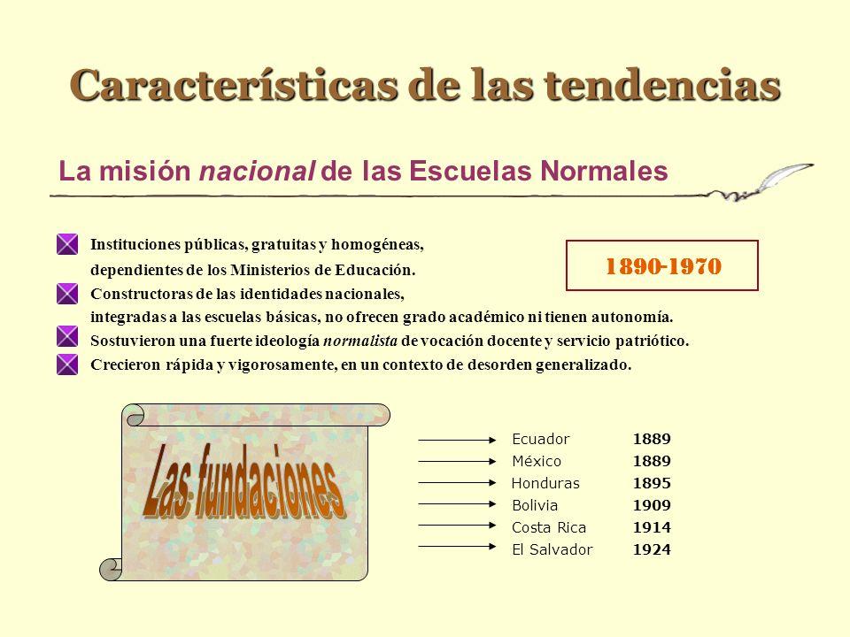 Historia de la formación docente en América latina y el Caribe 18901970 Universidades Pedagógicas 1950 Misión nacional de las Escuelas Normales Instit
