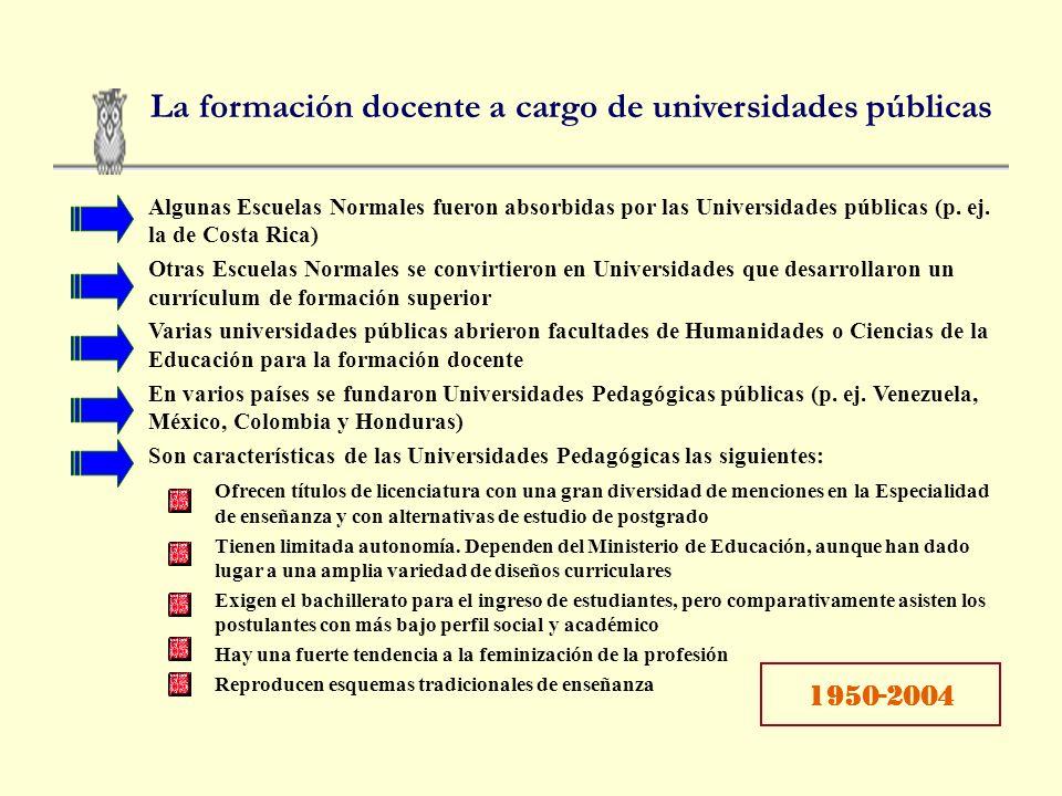 Características de las tendencias La misión nacional de las Escuelas Normales Instituciones públicas, gratuitas y homogéneas, dependientes de los Mini