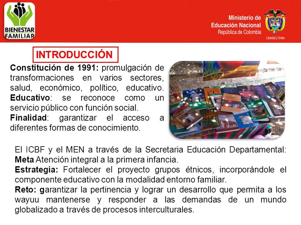 INTRODUCCIÓN Constitución de 1991: promulgación de transformaciones en varios sectores, salud, económico, político, educativo. Educativo: se reconoce