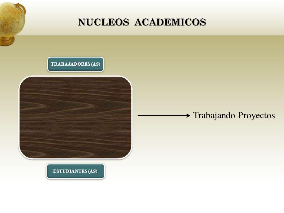 NUCLEOS ACADEMICOS TRABAJADORES (AS) ESTUDIANTES (AS) Trabajando Proyectos