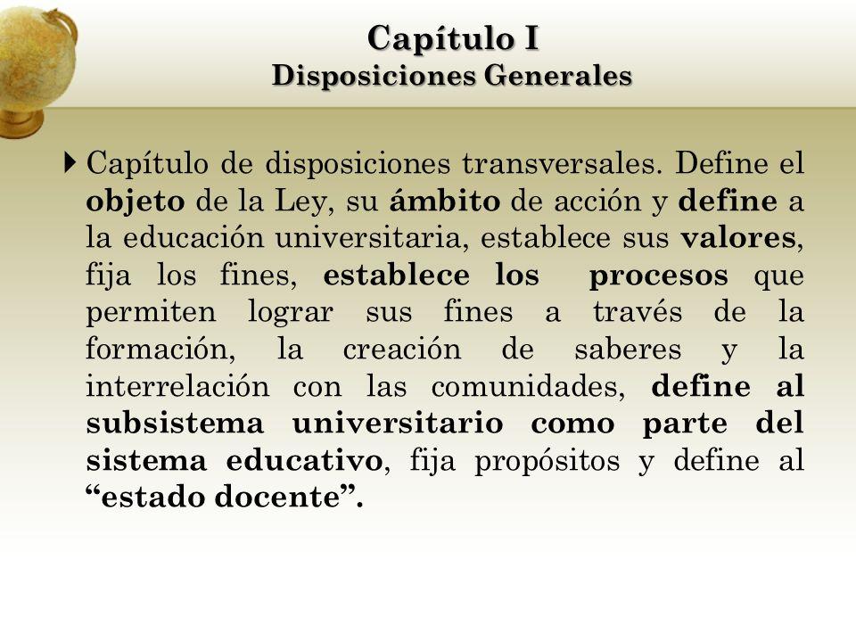 Capítulo de disposiciones transversales.