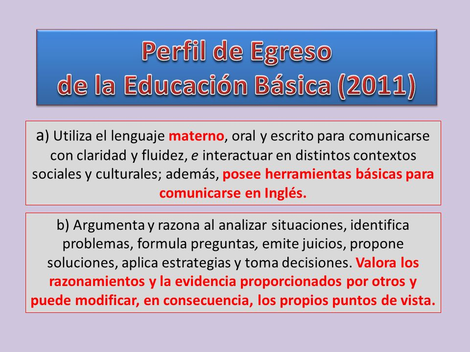 a ) Utiliza el lenguaje materno, oral y escrito para comunicarse con claridad y fluidez, e interactuar en distintos contextos sociales y culturales; a