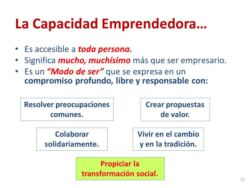 La Capacidad Emprendedora… Es accesible a toda persona.