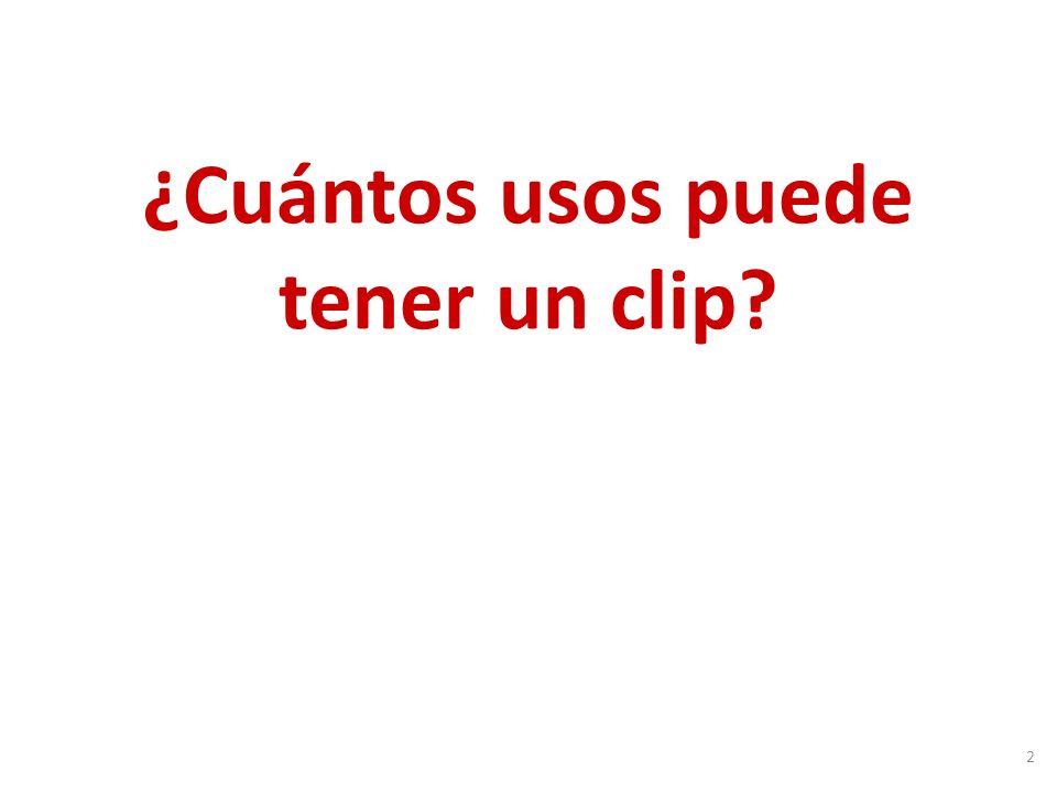 ¿Cuántos usos puede tener un clip 2
