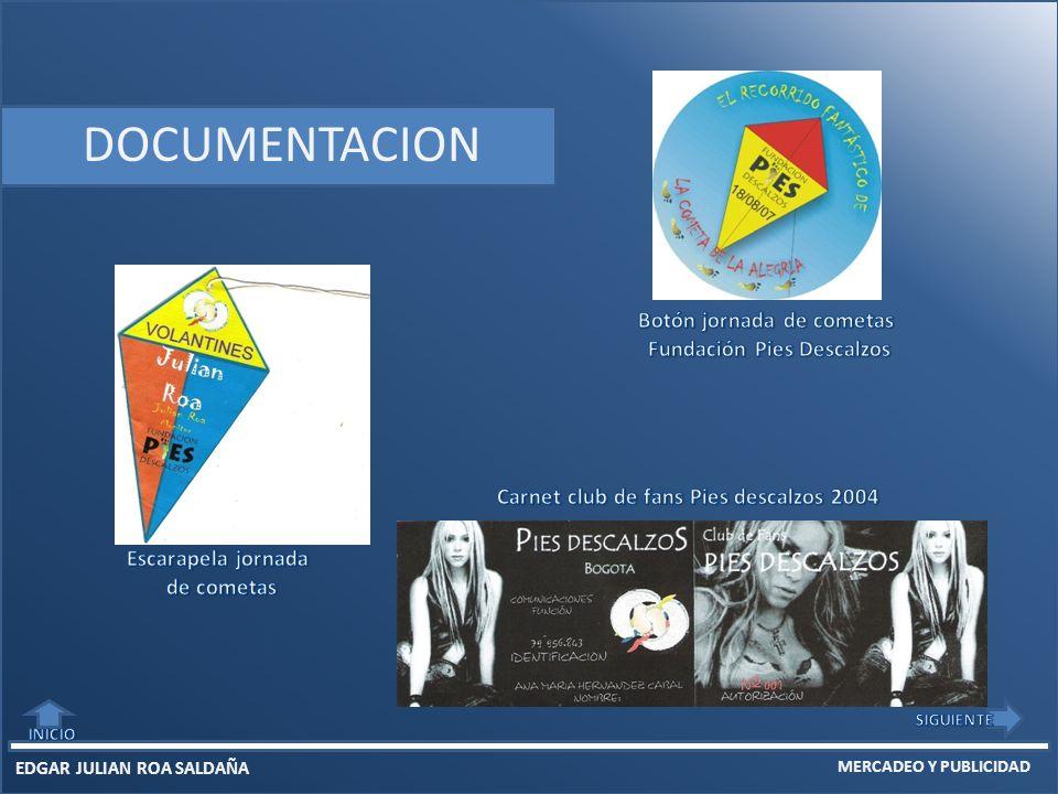 EDGAR JULIAN ROA SALDAÑA MERCADEO Y PUBLICIDAD DOCUMENTACION