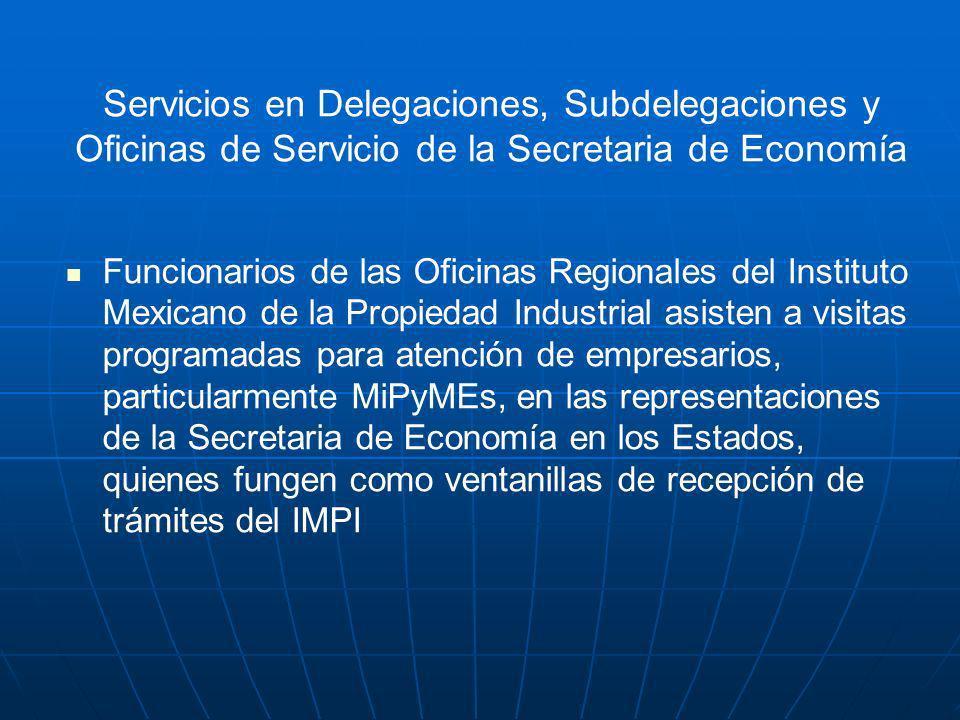 Servicios en Delegaciones, Subdelegaciones y Oficinas de Servicio de la Secretaria de Economía Funcionarios de las Oficinas Regionales del Instituto M
