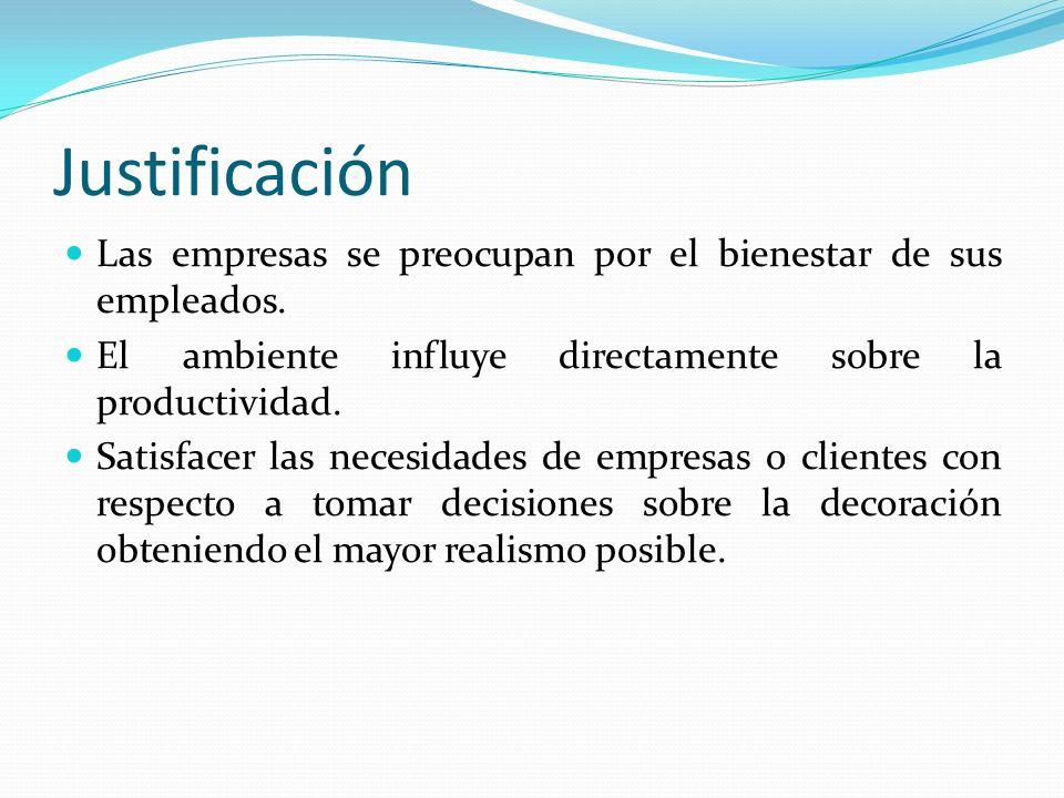 Descripción del problema Las empresas dedicadas a la decoración de oficinas necesitan promocionar sus servicios.