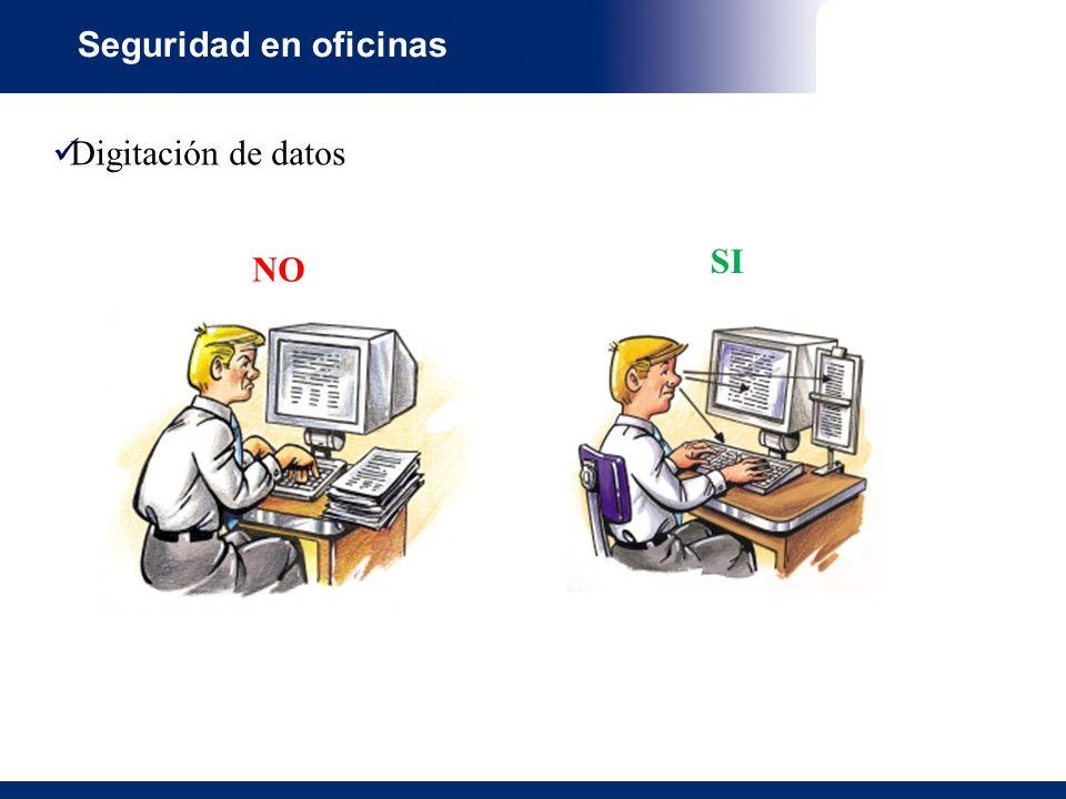 Seguridad en oficinas Digitación de datos NO SI