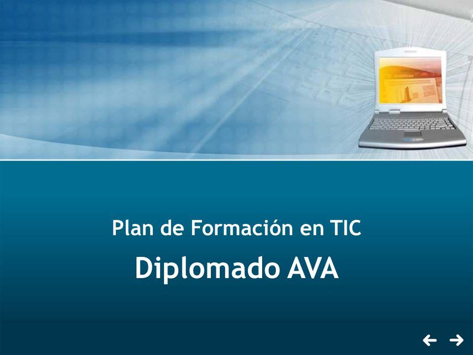Plan de Formación en TIC Diplomado AVA