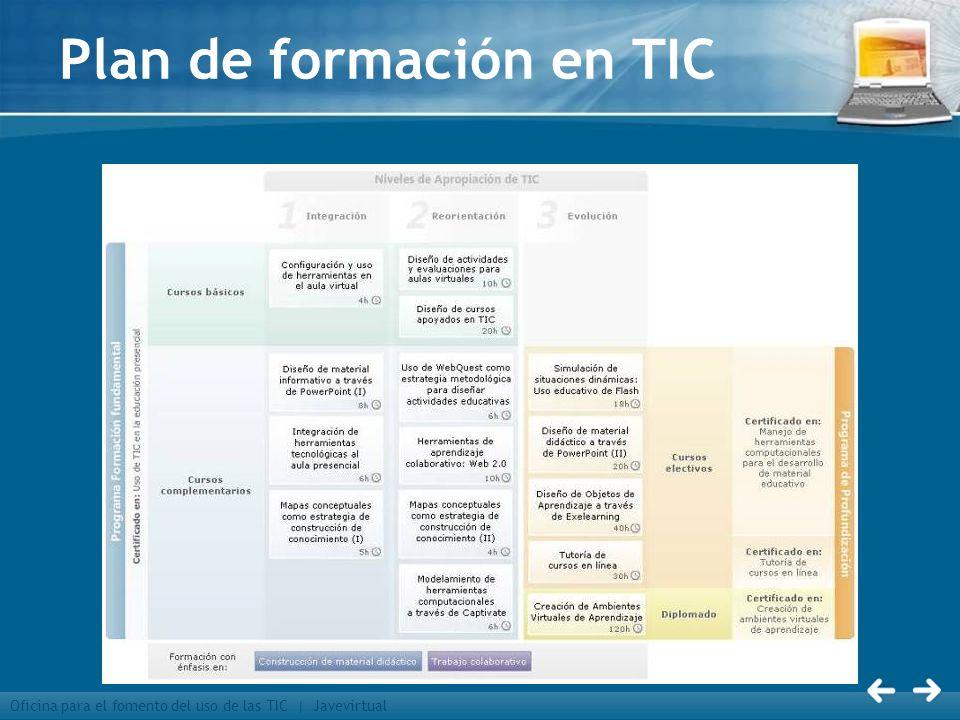 Oficina para el fomento del uso de las TIC | Javevirtual Plan de formación en TIC