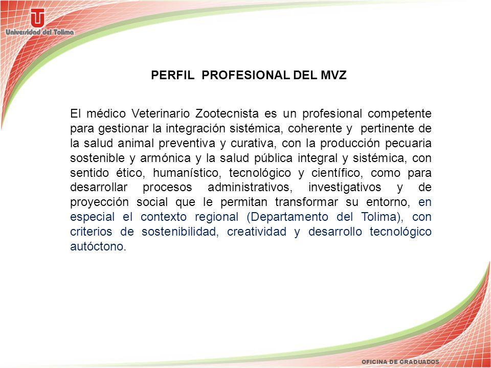 PERFIL PROFESIONAL DEL MVZ El médico Veterinario Zootecnista es un profesional competente para gestionar la integración sistémica, coherente y pertine
