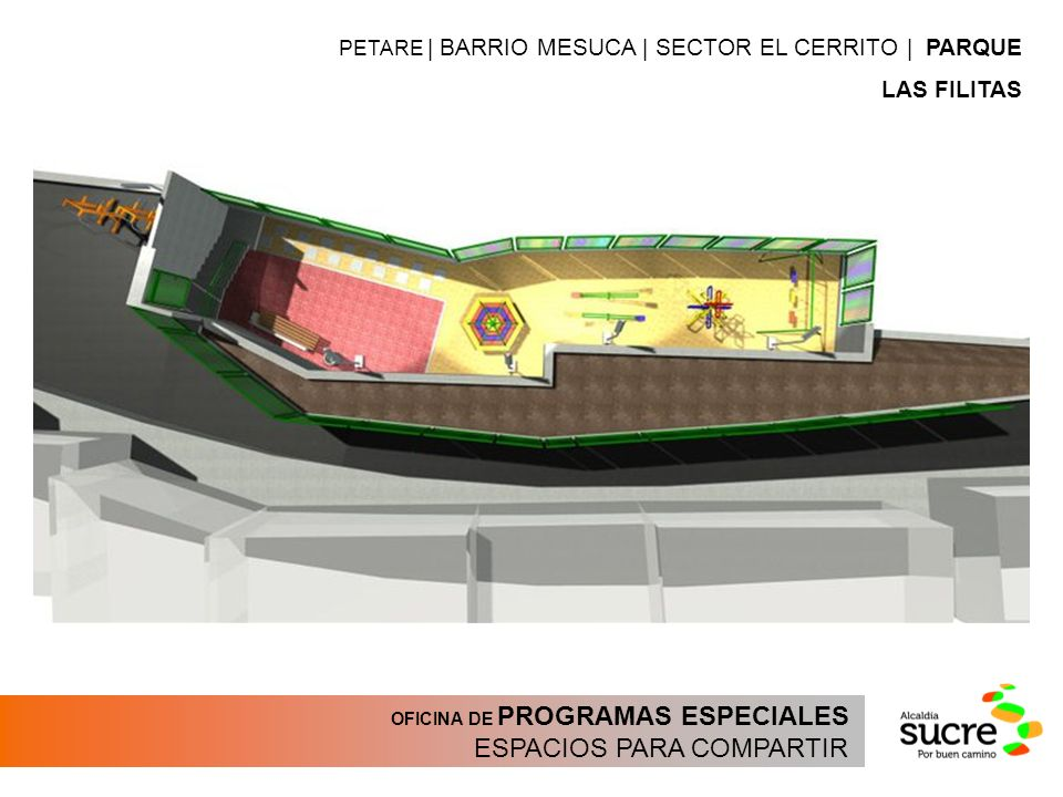 OFICINA DE PROGRAMAS ESPECIALES ESPACIOS PARA COMPARTIR PETARE | BARRIO MESUCA | SECTOR EL CERRITO | PARQUE LAS FILITAS