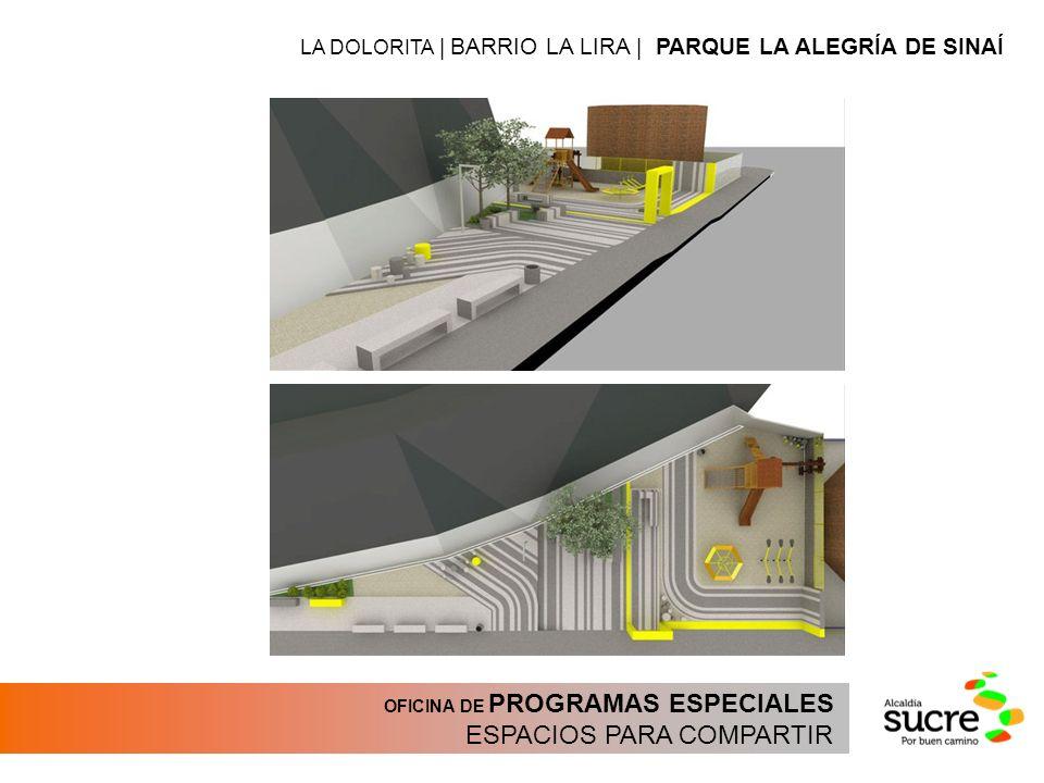 OFICINA DE PROGRAMAS ESPECIALES ESPACIOS PARA COMPARTIR LA DOLORITA | BARRIO LA LIRA | PARQUE LA ALEGRÍA DE SINAÍ