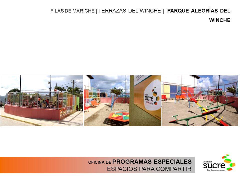 OFICINA DE PROGRAMAS ESPECIALES ESPACIOS PARA COMPARTIR FILAS DE MARICHE | TERRAZAS DEL WINCHE | PARQUE ALEGRÍAS DEL WINCHE