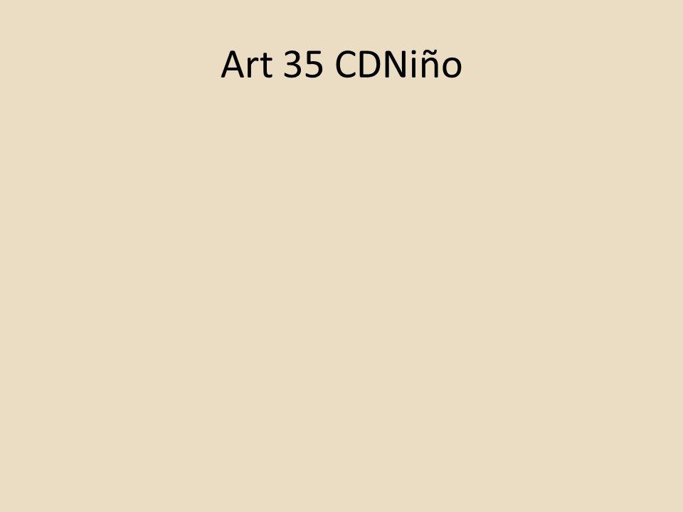 Art 35 CDNiño