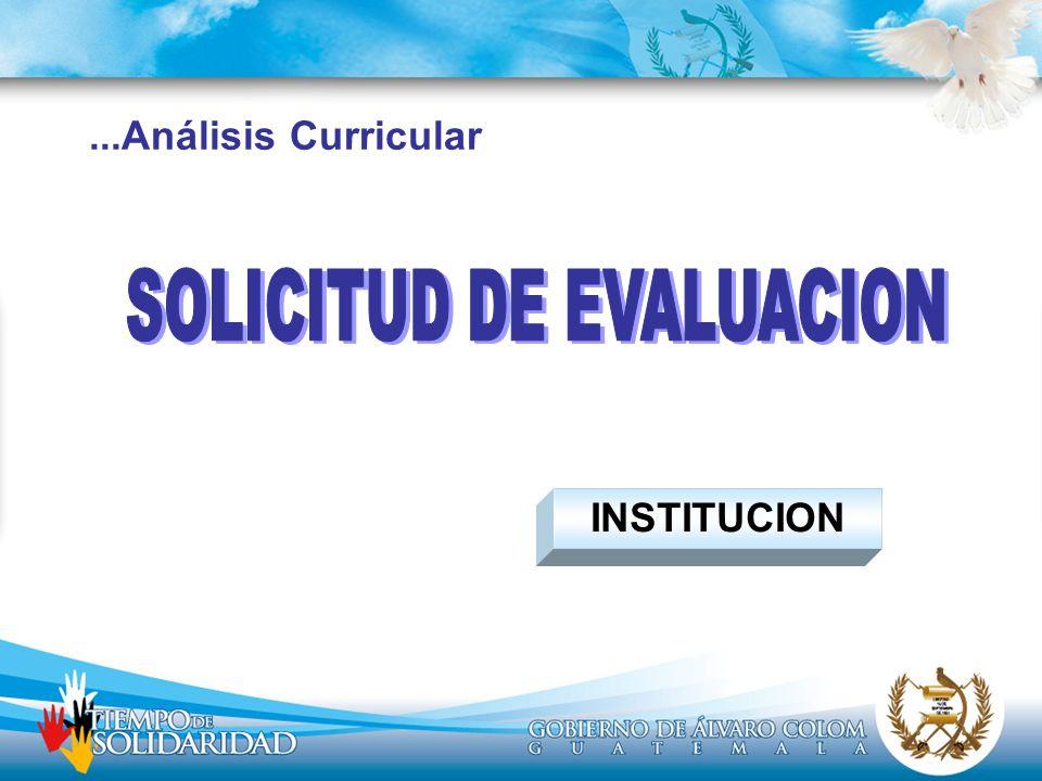 ...Análisis Curricular INSTITUCION