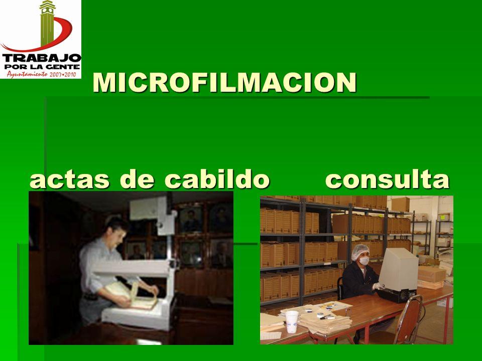 MICROFILMACION actas de cabildo consulta MICROFILMACION actas de cabildo consulta