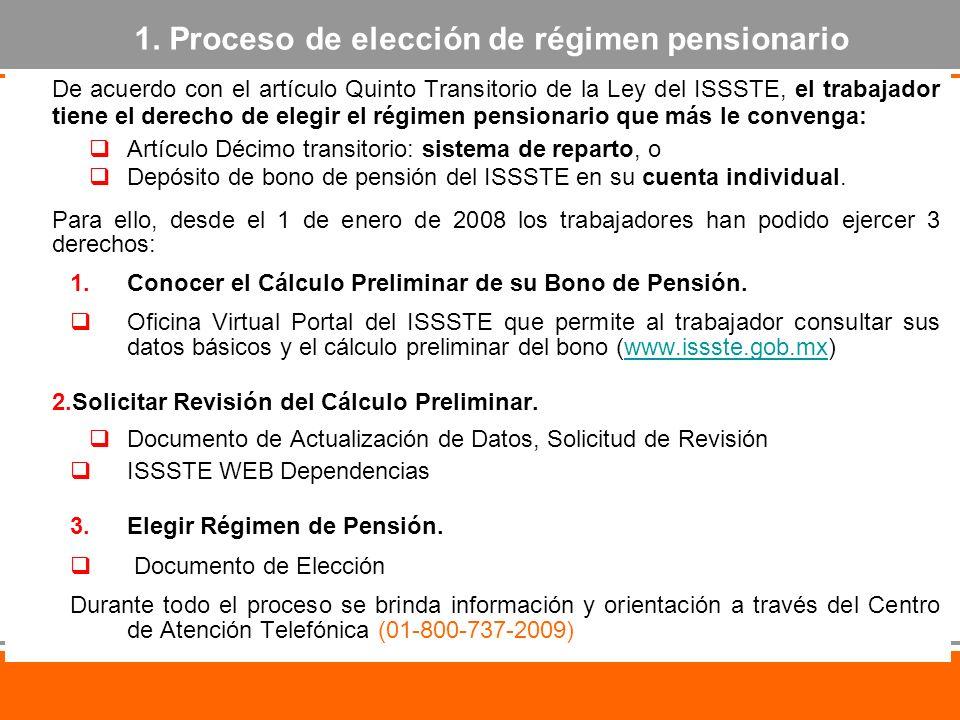 De acuerdo con el artículo Quinto Transitorio de la Ley del ISSSTE, el trabajador tiene el derecho de elegir el régimen pensionario que más le conveng